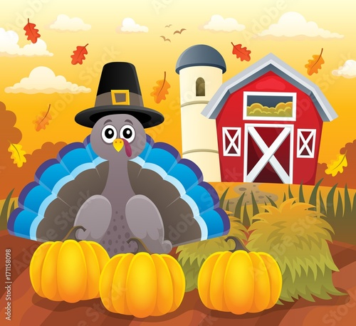 Aluminium Voor kinderen Thanksgiving turkey topic image 3