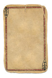 Ancient  playing card empty paper background isolated