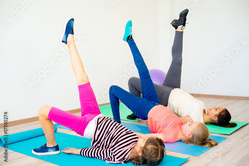 Sticker Girls in a gym