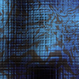 Abstract glossy distorted shapes. Fantasy texture in blue and black colors. Digital fractal art. 3D rendering.