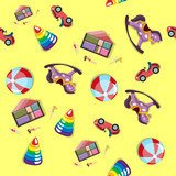 Baby toys pattern seamless background