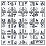 Packaging symbols set, cargo icons, vector illustration - 171181438