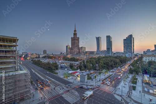 Warsaw Center view, with no recognizable logos.