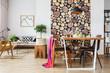 Scandinavian apartment with winter design