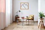 Rustic design of white interior - 171189274