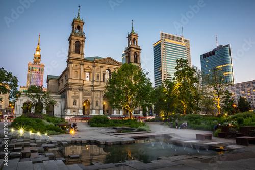 Fototapety, obrazy : Church of All Saints in Grzybowski Square in Warsaw, Poland