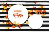 Autumn leaves card - 171190434