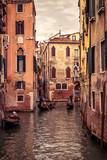 Gondolas floats in Venice, Italy