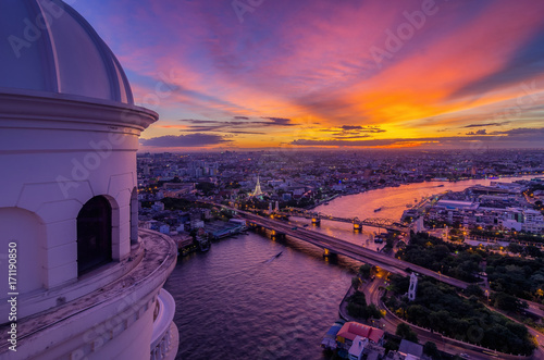 Fotobehang Thailand River of Life