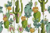Cactus pattern white