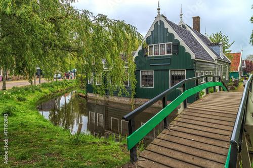 Foto op Plexiglas Amsterdam Traditional Houses in the Historic Village of Zaanse Schans.
