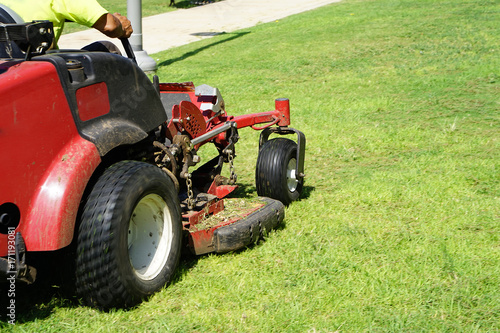 Lawn Care.Riding Mower.Grass Poster