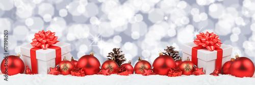 Weihnachten Geschenke Weihnachtsgeschenke Banner Dekoration Hintergrund Sterne Textfreiraum - 171198203
