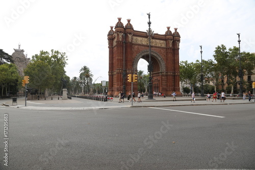 Aluminium Barcelona arc de triomphe barcelone