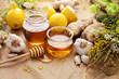 Honey, garlic, lemon, herbs and ginger - 171213205