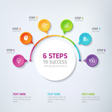 6 Steps Infographics