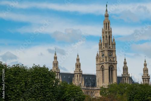 Foto op Canvas Wenen Rathaus in Wien