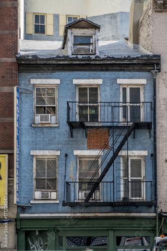 Papiers peints New York Blue facade