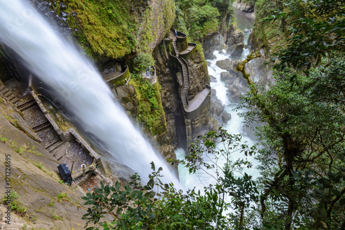 Pailon del Diablo waterfall, Ecuador - 171228695