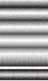 Seamless halftone dots effect borders