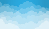 Fototapeta Na sufit - Sky and Clouds. Vector illustration. © Theus