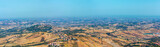 Beautiful panoramic picture of the state of San Marino with the height of the hill in Sunny weather with views of the sea