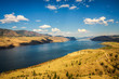 Summer panorama of the Kamloops lake in Canada