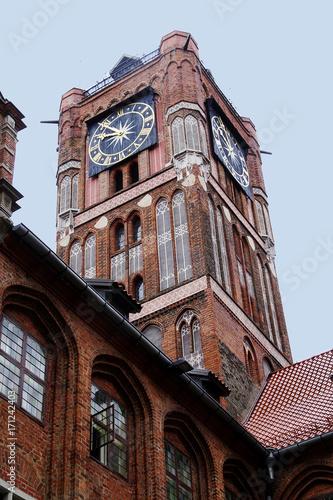 Fototapeta Tour de l'hôtel de ville de Torun Pologne