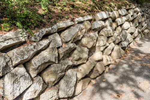 Papiers peints Brick wall Historische Trockenmauer