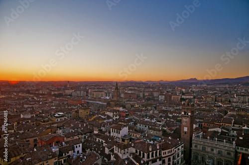 Foto op Plexiglas Chocoladebruin Tramonto a Verona