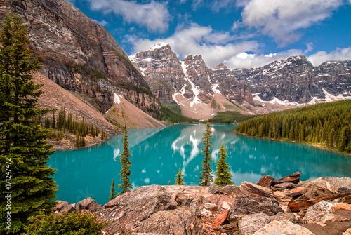 Fotobehang Canada Moraine Lake