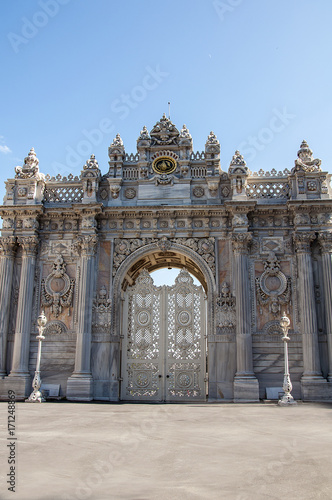 Gate of Dolmabahce palace in Istanbul, Turkey Poster