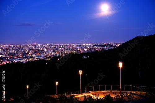 Aluminium Donkerblauw 新日本三大夜景の札幌