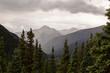 Alpine mountain views in Colorado on red mountain pass.