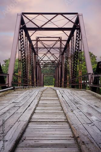 Fotobehang Bruggen Old Steal Bridge