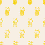 seamless pineapple pattern - 171259628