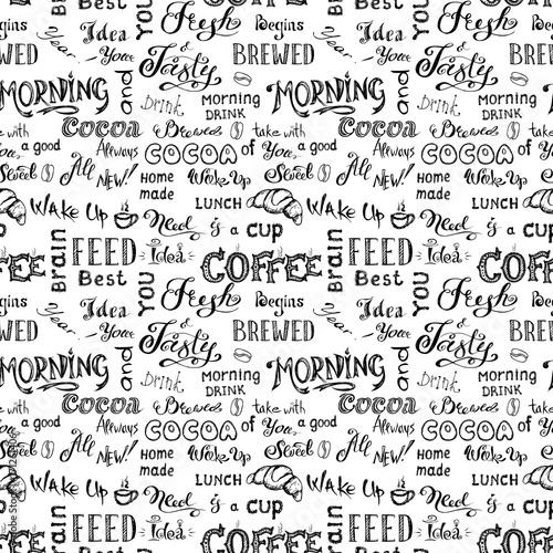 Fototapety, obrazy : Coffee seamless pattern,