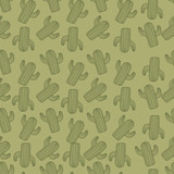 seamless cactus pattern - 171266862
