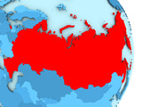 Map of Russia in red - 171267069
