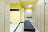 Locker room in hotel gym - 171267615
