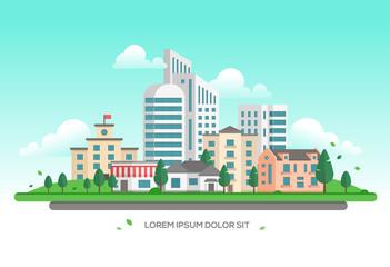 Urban landscape - modern vector illustration