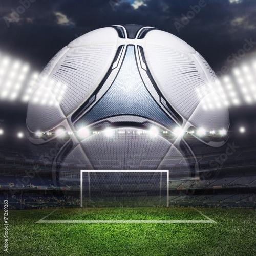Soccer ball. Poster