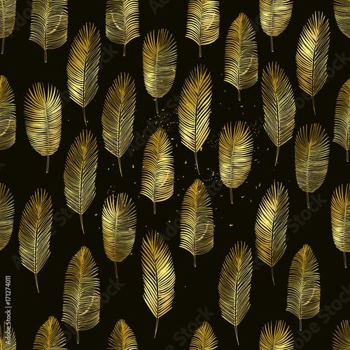 Set of hand drawn palm leaves - 171274011