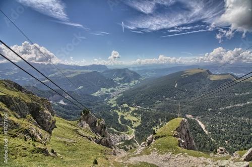 Ortisei e la Val Gardena visti dal Monte Seceda