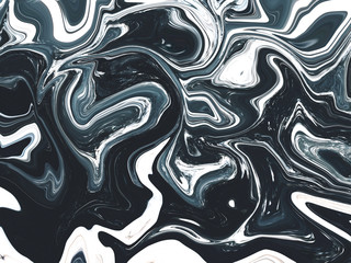 Abstract ink marble dark blue texture background