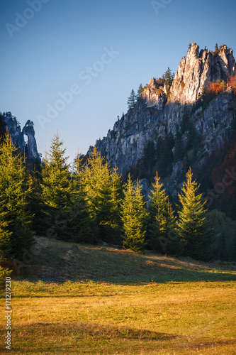 Papiers peints Miel Autumn landscape in a national park Mala Fatra, Slovakia, Carpathian Mountains, Europe.
