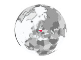 Poland on globe isolated - 171293267