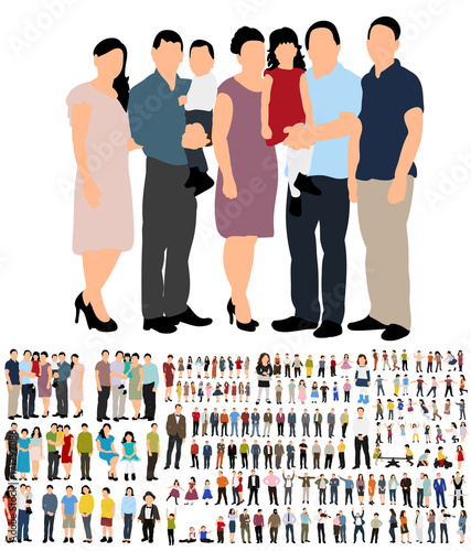vector, people flat style collection