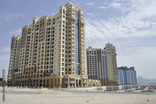 In de dag Dubai Residential buildings in Dubai, United Arab Emirates