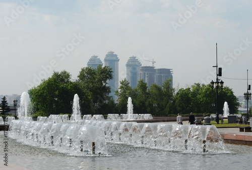 Papiers peints Moscou Fountain in Victory Park on Poklonnaya Hill in Moscow.